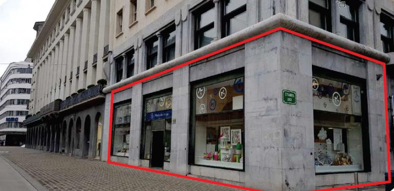 Priložnost najema trgovskega lokala v pritličju Nebotičnika